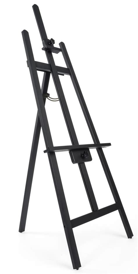 drawing easel  tall adjustable pine wood  black finish