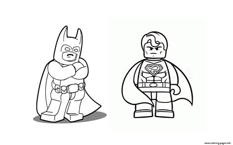 Batman Vs Superman Lego 2019 Coloring Pages Printable