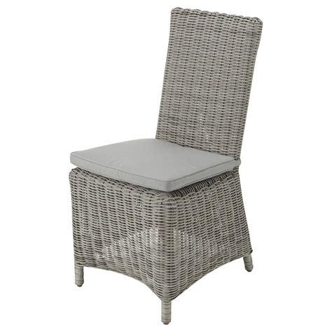 chaise de jardin en r 233 sine tress 233 e grise cape town