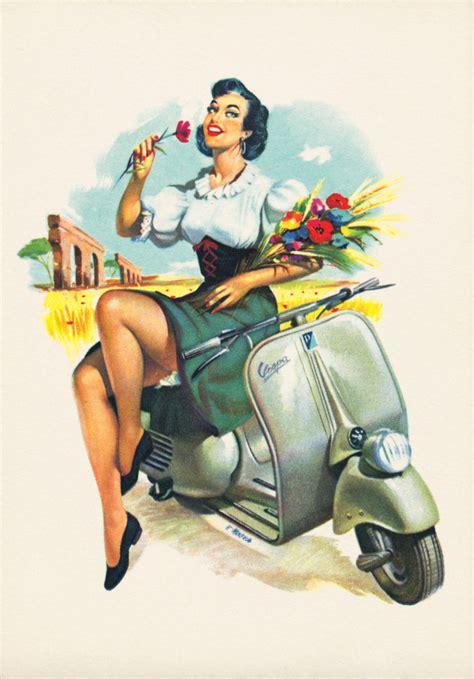 vespa vintage ads classic motorbikes