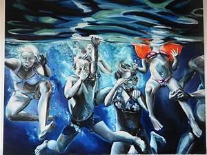 Tableau Peinture Sous Marine Tableau D'artiste.