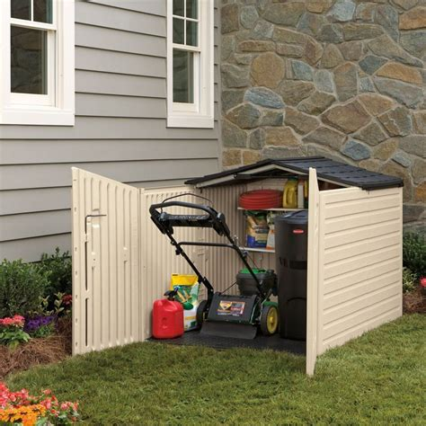 Outdoor Horizontal Storage Sheds   Quality Plastic Sheds