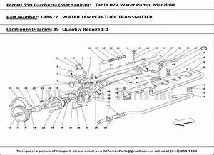 Ferrari Part 148677 Water Temperature Transmitter In