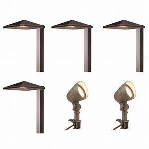 hampton bay low voltage integrated led bronze outdoor With outdoor deck lighting 120v