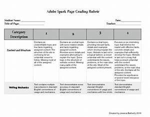 Adobe Spark Page Grading Rubric | Adobe Education Exchange
