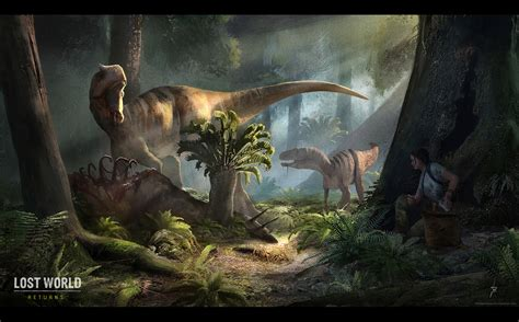 dino art  realistic dinosaur game lost world