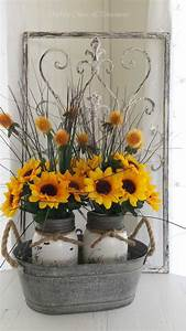 shabby chic sunflower jar diy ideas pinteresting finds