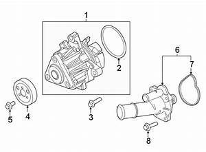 Ford Explorer Water  Pump  Engine  Assembly