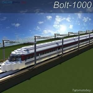 Bolt-1000 High Speed Train CB Rail Minecraft Project