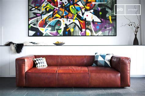 canapes vintage canapé vintage krieger grand canapé cuir d 39 exception pib