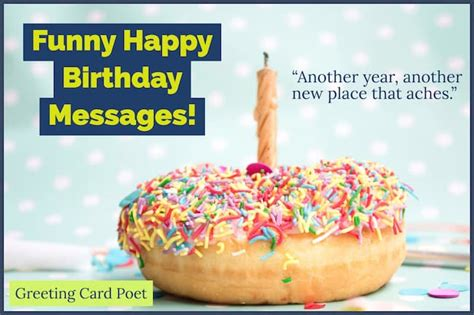 funny happy birthday messages  bring  smiles