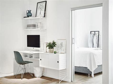 bureau string bureau etageres string blanches aménagement couloir