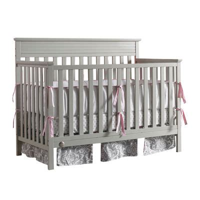 fisher price newbury crib fisher price newbury convertible crib grey jcpenney