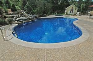 exposed aggregate pool decks lagoon with step concrete