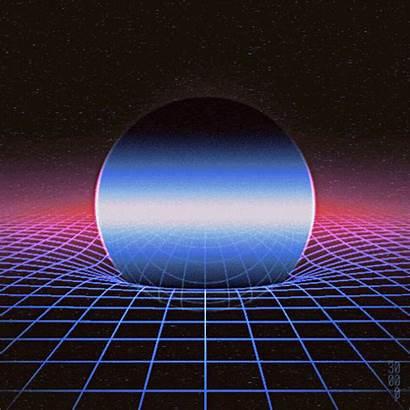 Retro Aesthetic Vaporwave Synthwave 80s Warp Animated