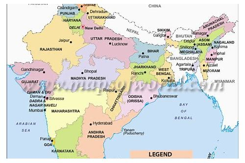download political map of india in hd
