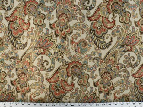 Jacquard Upholstery by Drapery Upholstery Fabric Woven Jacquard Paisley Floral