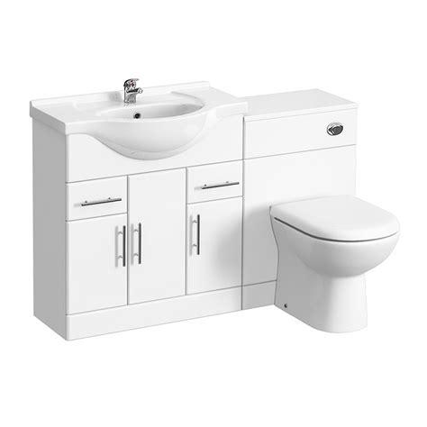 Bathroom Vanity Units Plumbworld Alaska High Gloss White Vanity Unit Bathroom Suite W1250 X