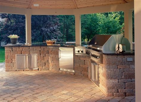 backyard built built in grill design ideas outdoor living by belgard