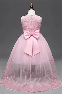 princess flower dresses white pink lace flower