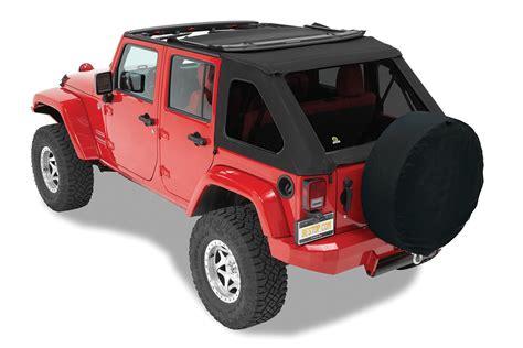 jeep soft top 4 door bestop 56923 17 trektop nx twill soft top for 07 18 jeep