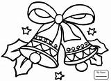 Jingle Bell Drawing Bells Coloring Pages Christmas Getdrawings sketch template