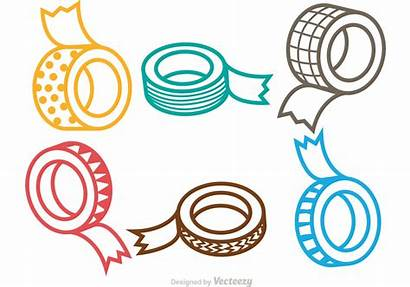 Tape Roll Clipart Clip Vectors Sticky Drawing