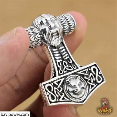 Hammer Thor Sterling Pendant Mjolnir Thors Viking