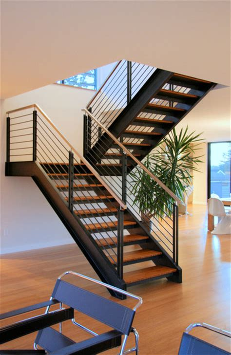 steel staircase design steel staircase modern staircase seattle by alcova 2506
