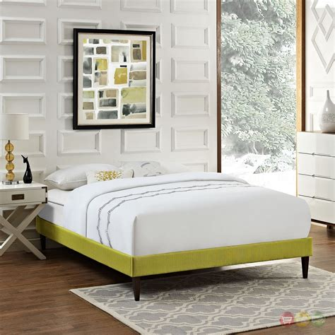 Fabric King Bed Frame by Modern King Fabric Platform Bed Frame With Square