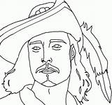 Coloring Pirate Pages Pirates Faces Face Caribbean Colouring Library Clipart sketch template