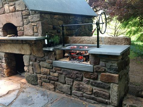 solebury wood burning brick oven  argentinian wood grill