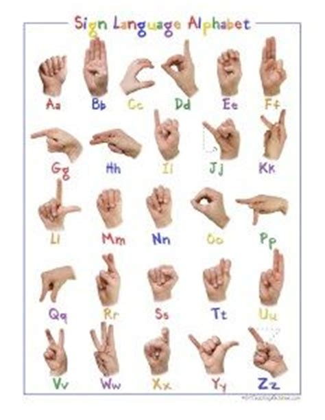 sign language for preschoolers free printable language and writing on 454