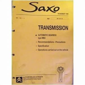 U00a319 99 Citroen Saxo Automatic Transmission Mb3 Workshop Manual Bre