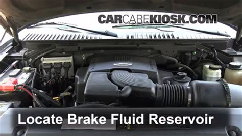 ford expedition brake fluid level check