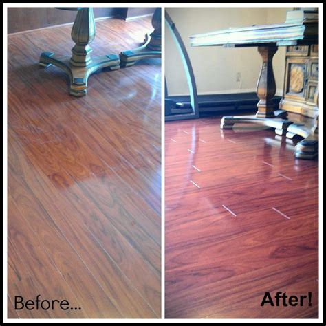 laminate before and after professional cleaning before