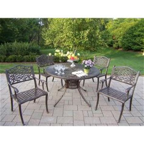 Patio Dining Sets 300 by Oakland Living Sunray Patio 5 Dining Set 1118 2012 5