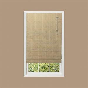 home decorators collection driftwood beveled reed weave With 32 inch roman shades