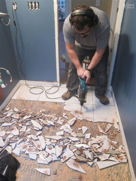 Removing Bathroom Floor Tiles by How To Remove Tile Flooring Hometalk Diy Bathroom