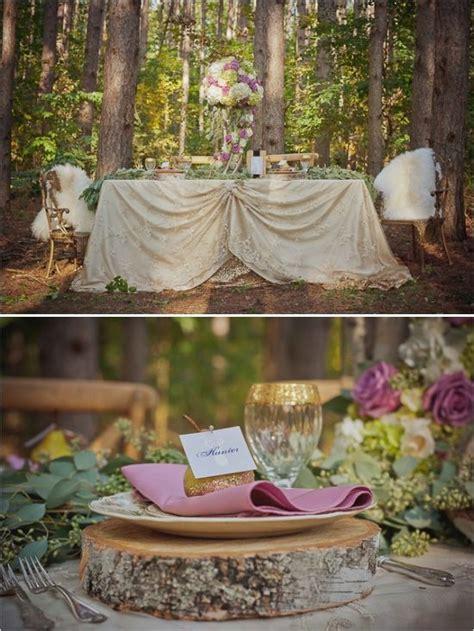 fairytale themed woodland wedding rustic or woodland