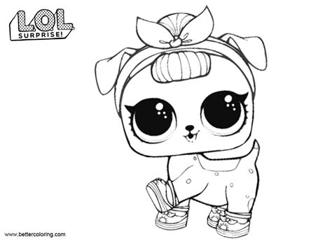 lol pets coloring pages   pup  printable coloring