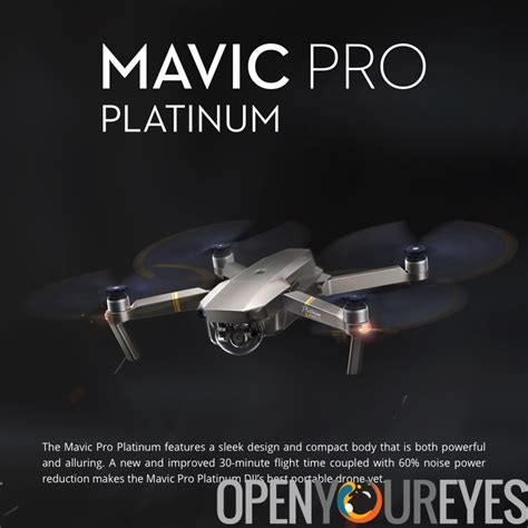 dji mavic pro mini platinum drone  minutes flight time