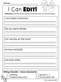 january printables first grade literacy and math by ms makinson