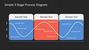 Free Simple 3 Stage Process Diagram For Powerpoint