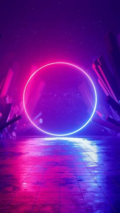 Neon Huawei Sci Fi 4k Abstract Circle