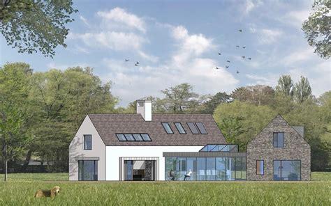 contemporary  bedroom irish countryside dwelling house designs ireland house exterior