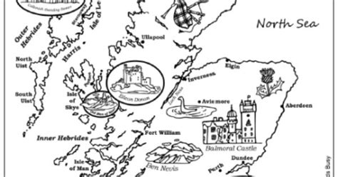 Map Of Scotland Colouring Page