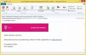Telekom Festnetz Rechnung : ihre telekom festnetz rechnung april 2018 fehler von telekom deutschland gmbh noreply ~ Themetempest.com Abrechnung
