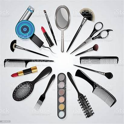 Tools Hair Stylist Makeup Equipment Vector Illustration