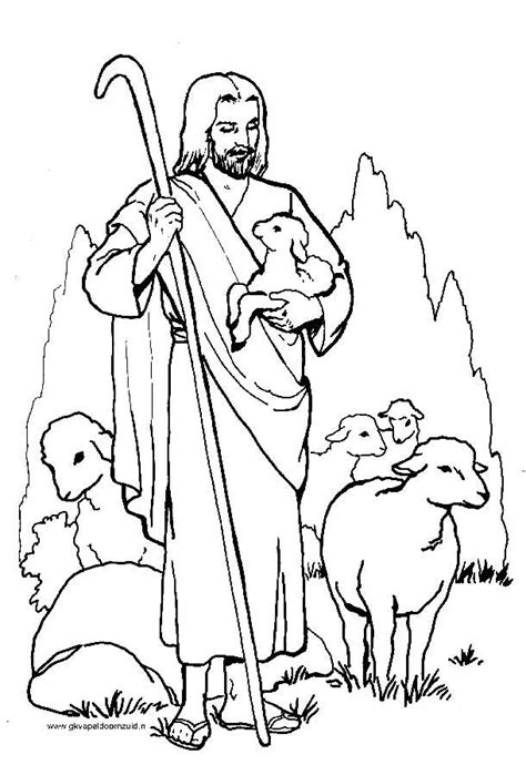 Jezus Goede Herder Kleuters Kleurplaat 7 beste afbeeldingen jezus is de goede herder op